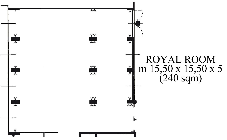 Piantina della sala Reale