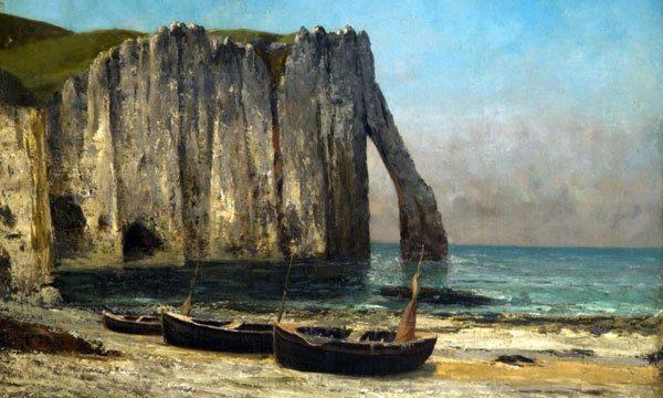 Gustave Courbet - La scogliera a Etretat (1869)