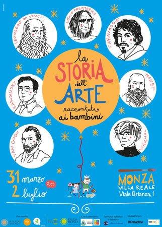 """Il percorso didattico """"La storia dell'arte raccontata ai bambini"""" alla Villa Reale di Monza"""