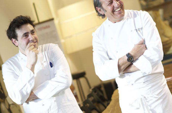 FIlippo La Mantia e Daniel Canzian, chef presenti anche all'edizione della Mensa di Solidarietà Cantù 2017