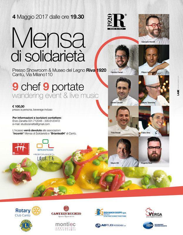 Mensa di solidarietà 2017 con 9 chef stellati e non