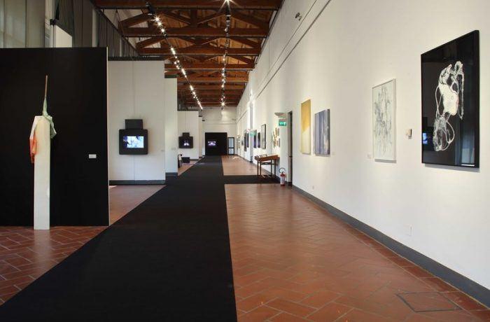 Una parte dell'allestimento della Biennale Giovani Monza 2017