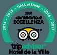 Hall of Fame Tripadvisor Hotel de la Ville 2018